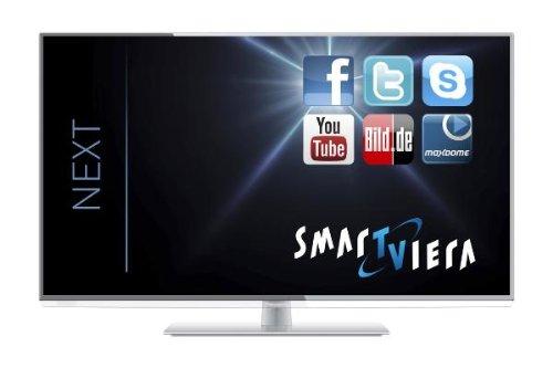 Televisor Panasonic TX-L42EW6W - Televisor con retroiluminación LED, eficiencia energética A+, Full HD, 100 Hz blb, DVB-S/-T/-C, Wi-Fi, USB)