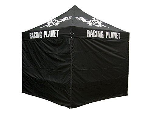 Profi Faltzelt / Klappzelt Racing Planet 3x3m Alu Polyester, PVC-beschichtet (mit Tasche)