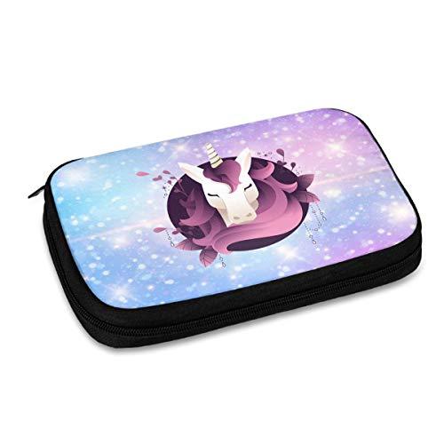 Bolsa de almacenamiento multifuncional portátil de patrón de unicornio pacífico personalizado, bolsa de accesorios de viaje portátil, bolsa de almacenamiento de cargador de cable de datos