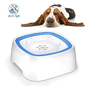 YOUTHINK Recipiente de Agua para Perros, Recipiente para Mascotas sin Salpicaduras con Material Antibacteriano, Recipiente de Agua para vehículos para Perros/Gatos/Mascotas 15
