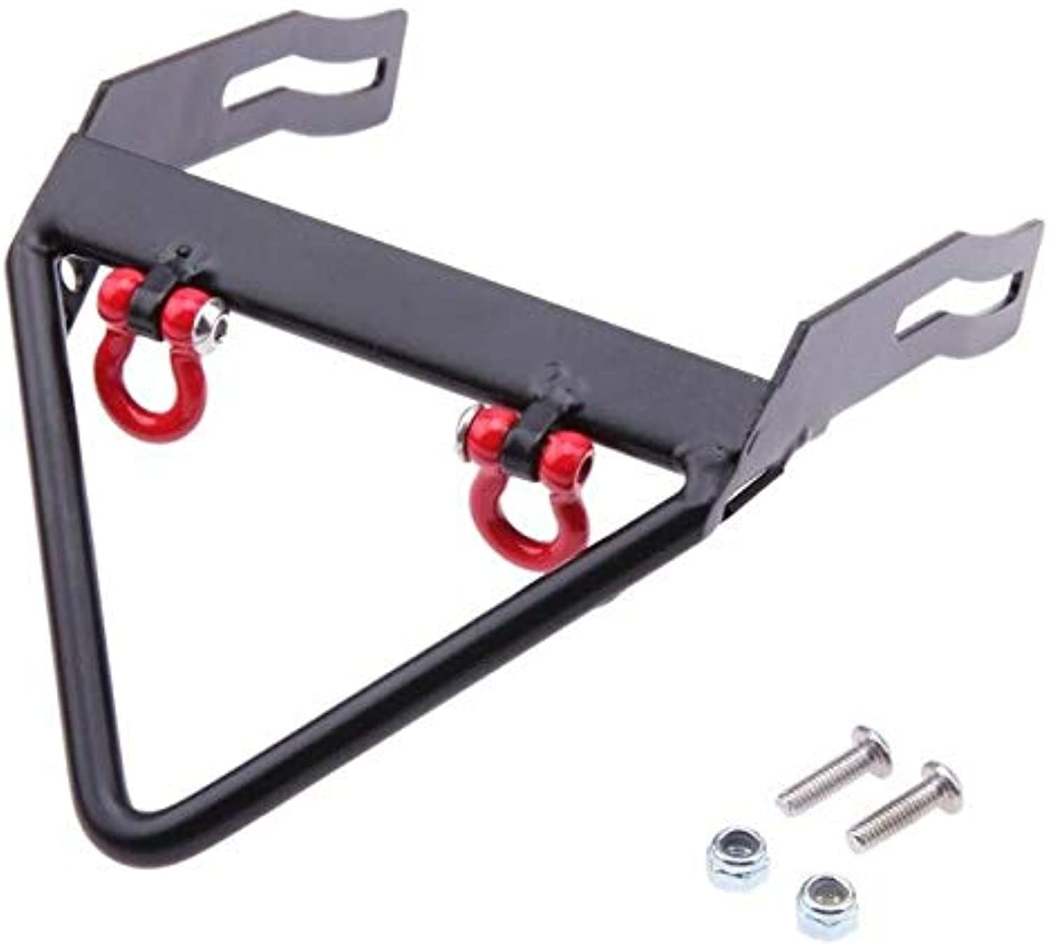 Car Metal Bumpers Black t Part for AXIAL SCX10 Carframe with Accessories   Black