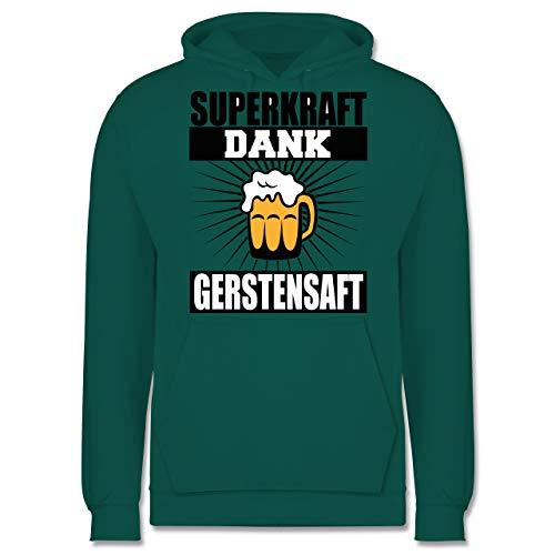 Sprüche - Superkraft Dank Gerstensaft - schwarz - XL - Türkis - Bier - JH001 - Herren Hoodie und Kapuzenpullover für Männer