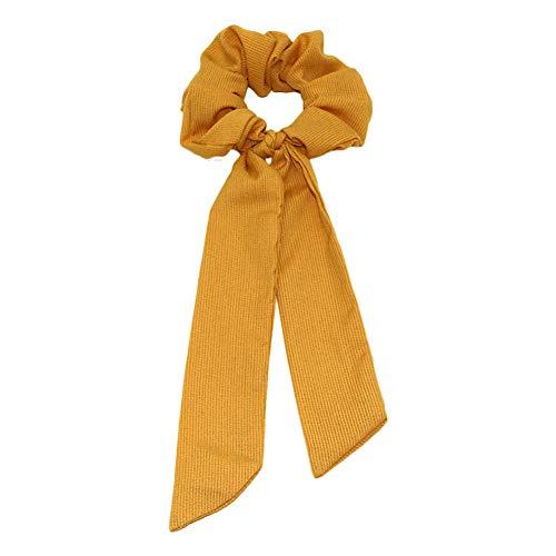 Qinlee – Bufanda para el pelo, gomas para el pelo, corbatas para la cabeza, cintas de goma, accesorios para el pelo, gasa vintage, cinta para la frente, cinta elástica para la cabeza para cola