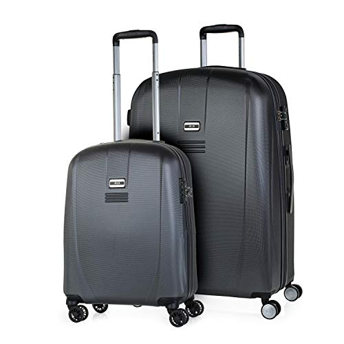 JASLEN - Set van 3 trolley koffers 50/60/70 cm ABS. Stijf, bestendig en licht. Telescopische handgreep, 2 handvatten, 4 dubbele wielen. TSA slot. Kleine lage kosten