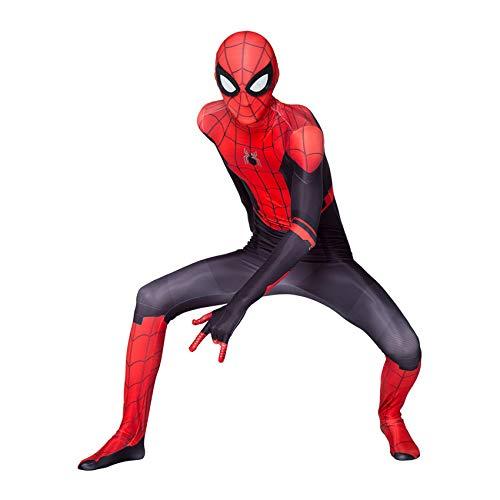 LINLIN Disfraz Spiderman superhroe para Halloween, disfraz adulto licra y elastano, verso araa Zentai para nios desde casa, mono medias, mono para adulto M (170 cm)