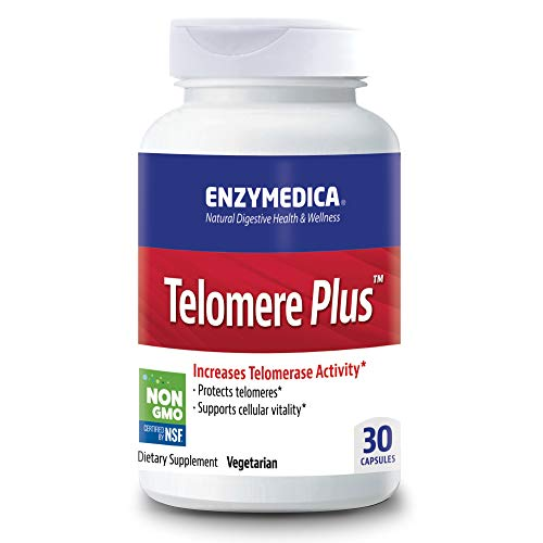 Enzymedica, Telomere Plus, Supports Healthy Aging, Cellular Health and Energy with Vitamin D3, Rhodiola and Astragalus, Vegetarian, 30 capsules (30 servings)