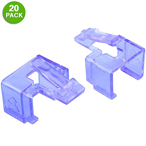 20 Pack Plug SOS Clips in Purple, for RJ45 Connector Fix/Repair and Color Coding/Management, NO Crimp Tool Needed