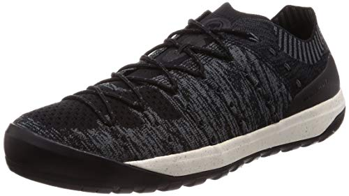 Mammut Herren Hueco Knit Low Men Traillaufschuh, Black-Titanium, 42 2/3 EU