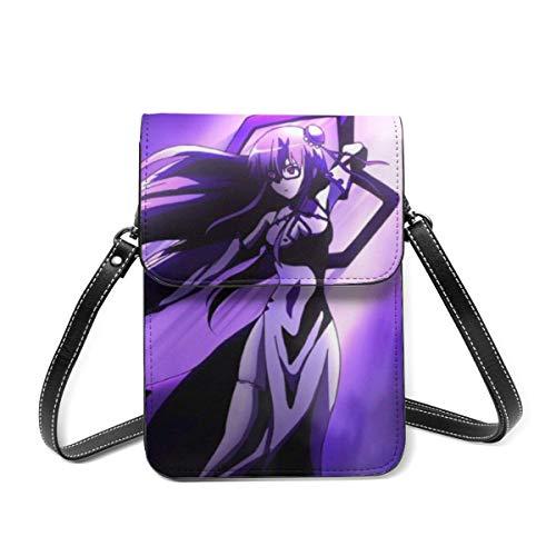 Akame Ga Kill - Bolso pequeño para teléfono celular, ligero, pequeño, bolsa de viaje de piel con ranuras para tarjetas de crédito