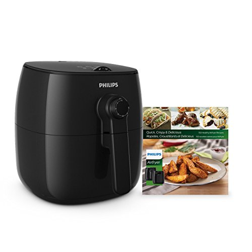 Philips Kitchen Appliances Viva Philips TurboStar Airfryer with Cookbook, 5, Black