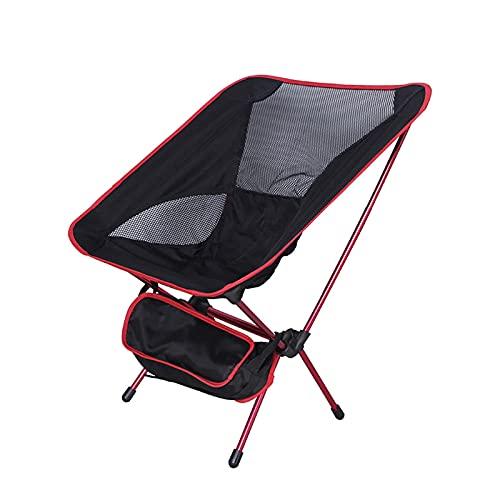 Silla de camping, silla de camping plegable, sillas redondas portátiles plegables para adultos con reposacabezas, bolsa de transporte para senderismo al aire libre, pesca, picnic, campamento, césped