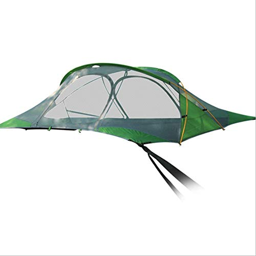 Tree Tent, Aerial Hammock, Ground Tent for 2-3 People, Family Camping Tent, 220×200cm, Waterproof (Four Corners Tent)