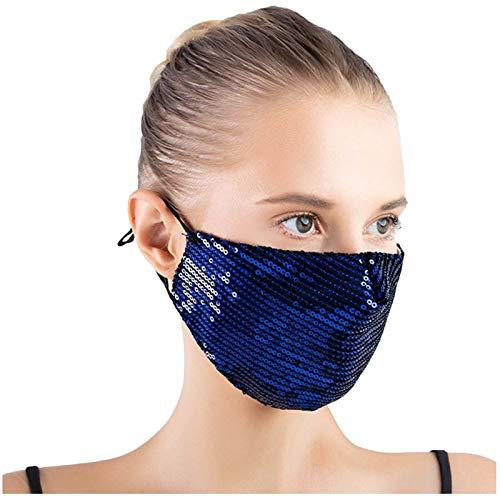 poundy bags 1PC Women Fashion Bling Cloth Cotton Face Macks Washable Breathable Face Macks Festival Face Macks