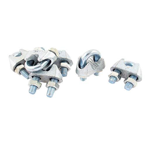 New Lon0167 Pinza de Destacados cable de cable eficacia confiable de alambre de metal de 8 mm Clips de tono plateado 6pcs(id:d89 07 9c 5ea)
