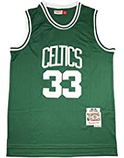 KKSY Heren Jerseys Larry Bird #33 Boston Celtics Basketbal Jerseys Ademend Vest