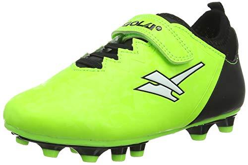 Gola Aka016, Chaussures de Football Homme, Vert (Lime/Black NB), 44 EU