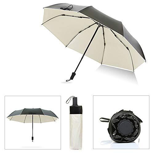 Big seller Regenschirme Ultraleichter Sonnenschutz Sonnenschirm Sonnenschirm UV-Schutz Regenschirm Männer und Frauen (Farbe : Beige)