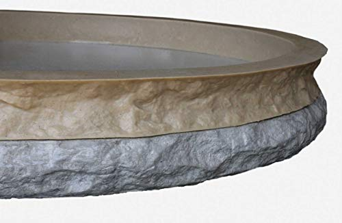 Stone Master Molds Chiseled Edge Concrete Countertop Edge Form Liner 10'x2.5'x2', Recycled Material