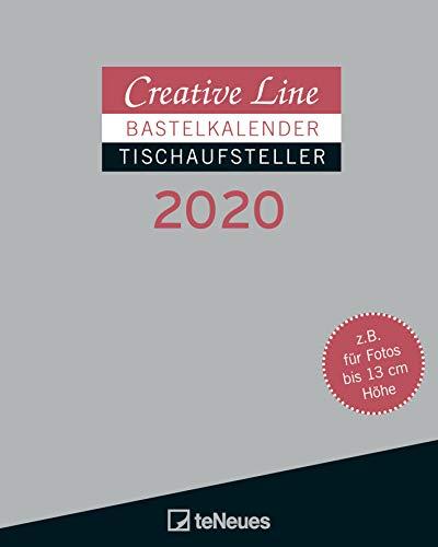 Creative Line Tischaufsteller hoch 2020 - Bastelkalender - Kreativkalender - Kalender zum Selbstgestalten - 16x20cm