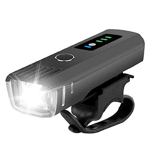 NCRD Luz de la bicicleta de la luz de la bicicleta, la luz del faro de las bicicletas de alta lúmenes altas, a prueba de agua, recargable, fácil de montar, fácil de montar para la bicicleta de montaña