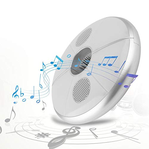 Jadpes Luz de Paraguas Bluetooth, Luz de Paraguas Bluetooth, Carga Recargable USB 7 Lámpara de sombrilla LED Colorida con Altavoz Bluetooth para Tienda de Camping al Aire Libre L
