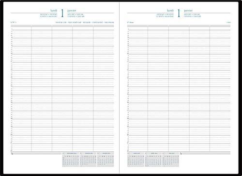 Quo Vadis Journal 29/2 Barbara - Tagesplaner - 2 Seiten pro Tag - fester Einband - A4 - weißes Papier