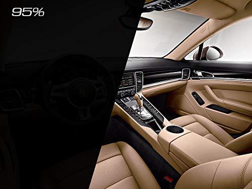 speedwerk-motorwear raamfolie 95% diepzwart 76 cm breedte Panthera 295C, professionele getinte folie 4m