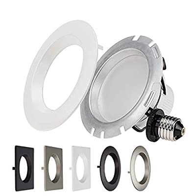 1 PACK/4 PACK Dimmable Recessed LED Downlight, 4 Inch 10W (75W Equivalent),2700K Soft White/5000K Daylight