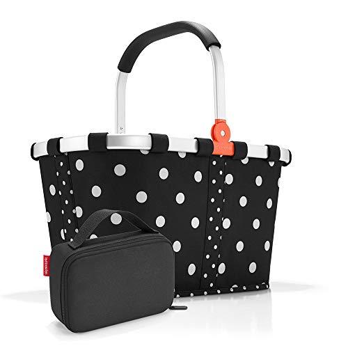 Set carrybag BK, thermocase OY, SBKOY Einkaufskorb mit Kleiner Kühltasche, Mixed dots + Black (70517003)
