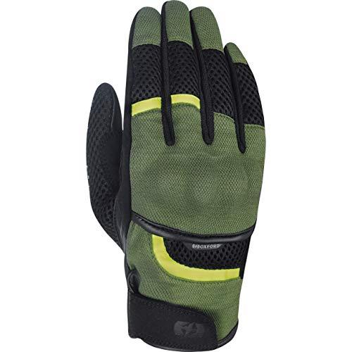 Oxford Motorradhandschuhe kurz Motorrad Handschuh Brisbane Air Sommer Handschuh grün/schwarz/gelb 3XL, Herren, Enduro/Reiseenduro, Polyester