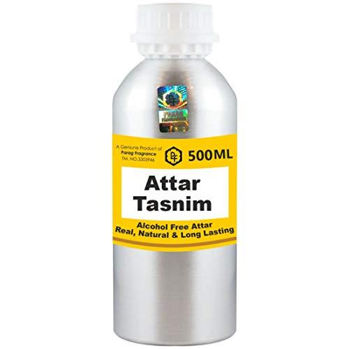 Parag Fragrances Tasnim Attar 500 ml Attar (Sans alcool, Attar de longue durée pour hommes - Femmes et usage religieux) Worlds Best Attar | Itra | Huile parfumée | Parfum