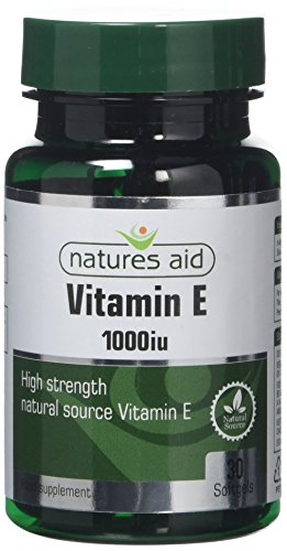 Natures Aid Vitamin E 1000iu, Natural Source, High Strength, 30 Softgel Capsules