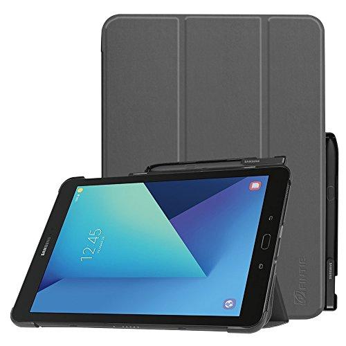 Fintie Hülle für Samsung Galaxy Tab S3 T820 / T825 (9,68 Zoll) Tablet-PC - Ultra Schlank Ständer Schutzhülle Cover Case mit Auto Schlaf/Wach Funktion und eingebautem S Pen Halter, Space Grau