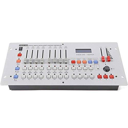 ADHW EDM Consola DMX512 Luces DMX 512 de la Consola 240 Canales for el Partido Etapa de Iluminación de La Barra del Disco de DJ Conciertos del Operador del Equipo Equipo EDM (Color : Red)