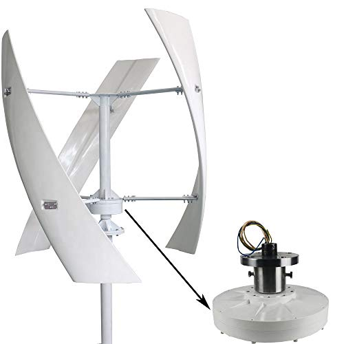 FLYT Turbina Eólica 1000W 24V Aerogenerador vertical Pequeño Generador de Viento de Uso Doméstico, Con controlador MPPT Molino de Viento de 3 Palas