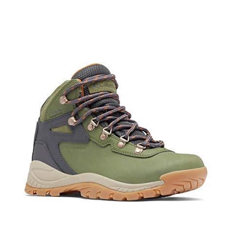 Columbia Women's Newton Ridge Plus Waterproof Hiking Boot Shoe, Hiker Green/Caramel, 6.5 Wide