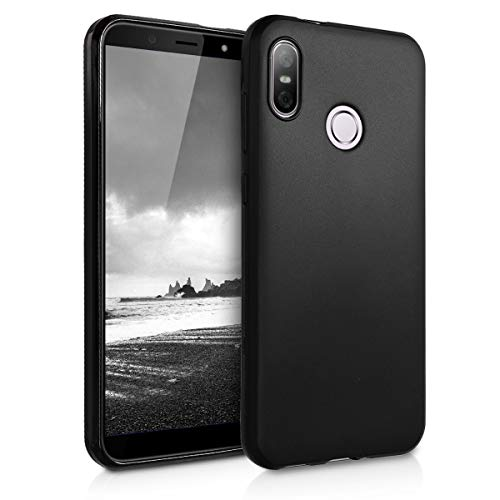 kwmobile Hülle kompatibel mit HTC U12 Life - Hülle Handyhülle - Handy Case in Schwarz matt