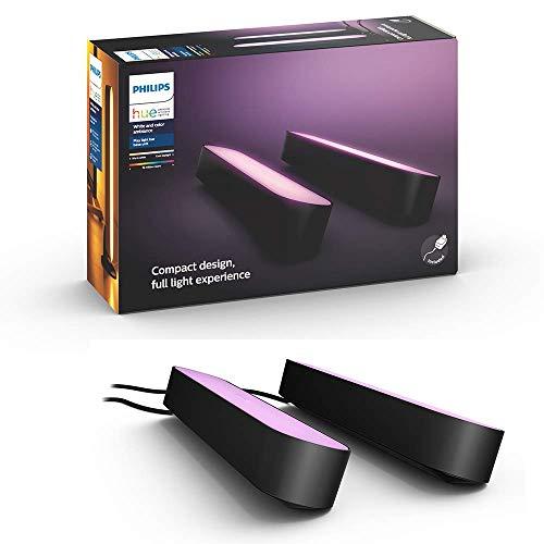 【日本正規品】Philips Hue Play ライトバー 2個セット バータイプLEDライト2個+電源アダプタ1個 TVバックライト 映像・音楽シンクロ フルカラー照明 間接照明 インテリア照明