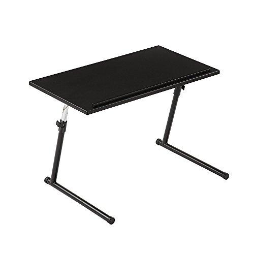 ぼん家具 サイドテーブル 折りたたみ 昇降式テーブル 角度調節可能 木製 ソファテーブル ブラック