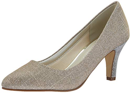 Rainbow Club Damen Brooke Pumpe, Ivory/Creme/Gold Metallic, 38.5 EU