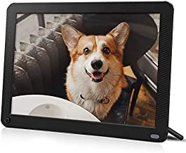 IEBRT Digital Picture Frame with 1920x1080 IPS Screen, Digital Photo Frame Support Adjustable Brightness Photo Frames 1080P Video Music Remote 16:9 Widescreen(10 inch)