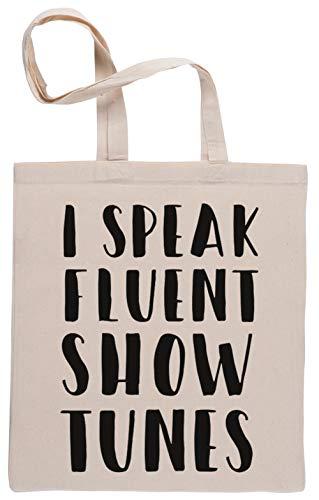 Capzy I Speak Fluent Showtunes Einkaufstasche Beige Shopping Bag Beige