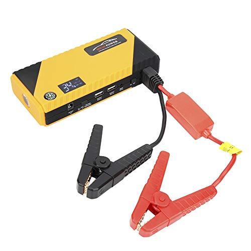 Arrancador de coche, Paquete de refuerzo de batería de coche de 12V 20000mAh, Fuente de alimentación de emergencia máxima de 600 A con luz LED y puertos USB(EU)