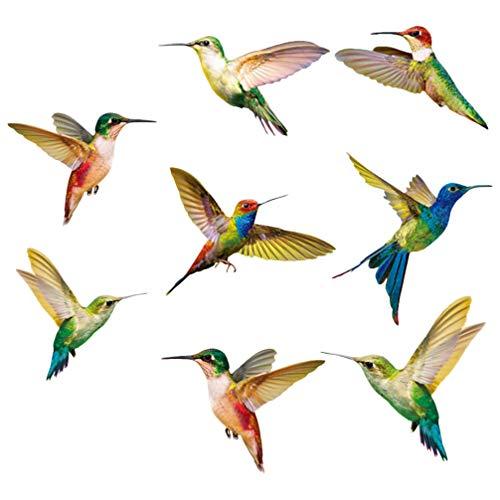 BESPORTBLE Etiqueta Engomada del Colibrí de 8 Piezas Etiqueta de La Ventana del Colibrí Ventana Anti-Colisión Golpes de Pájaro para La Decoración de La Etiqueta Engomada del Pájaro de