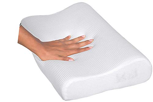 Delcy Memory Foam Pillow,Cervical Pillow for Neck Pain,Orthopedic Contour Pillow Support for Back,Stomach,Side Sleepers,Anti-Snoring Relief Neck Pillow,Anti-Allergy,Pillow for Pain Relief