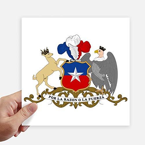 DIYthinker Chile Emblema Nacional País Square Stickers 20cm Pared Maleta portátil Motobike Decal 4 Piezas 20cm x 20cm