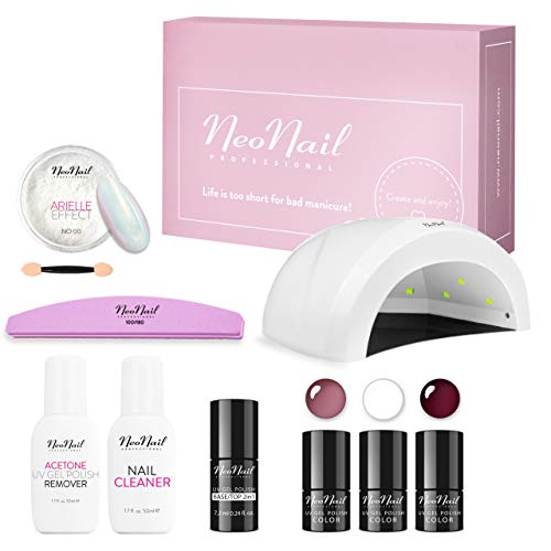 NEONAIL BeEffective Exclusive Set UV Nagellack UV LED Lampe Nagelstudioset Geschenkbox Nagelstudio Set Nail Set die beste Qualität Effizient Effektiv
