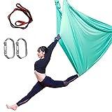 HUUATION Hamaca de Yoga Hamaca Anti-Gravedad Hamaca Acrobática para Jardín Swing Yoga Pilates Training Indoor Outdoor 5x2.8m(Fruit Green)