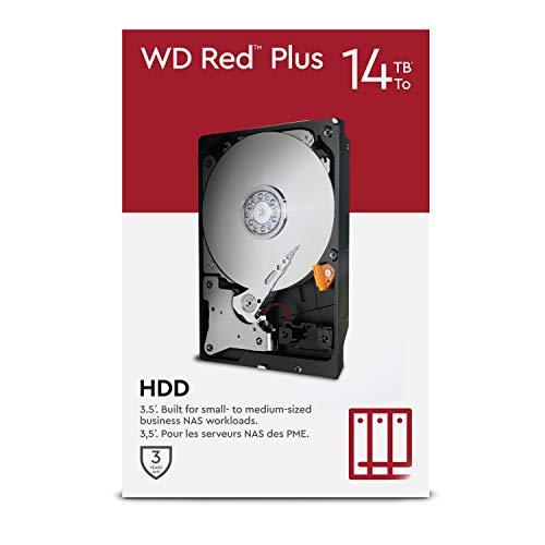"WD Red Plus 14TB NAS 3.5\"" Interne Festplatte – 5.400 RPM Class, SATA 6Gbit/s, CMR, 512MB Cache"