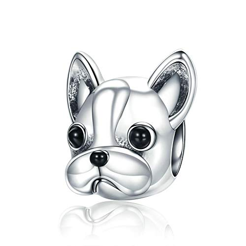 Hotan Un animal de la serie de perros de corte S925 de plata de ley frijoles Bulldog francés accesorios